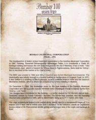Bombay Municipal Corporation History Note