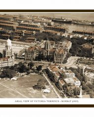 ARIAL VIEW OF VICTORIA TERMINUS – BOMBAY (Small)