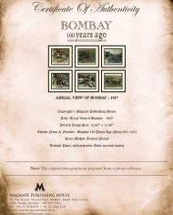 Certificate – Aerial View of Bombay (1)