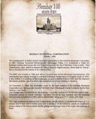 Bombay Municipal Corporation History Note