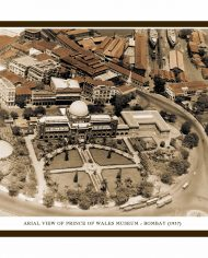 ARIAL VIEW OF PRINCE OF WALES MUSEUM – BOMBAY (Small) White Border